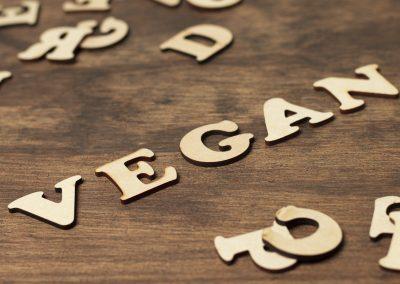 vegan letters